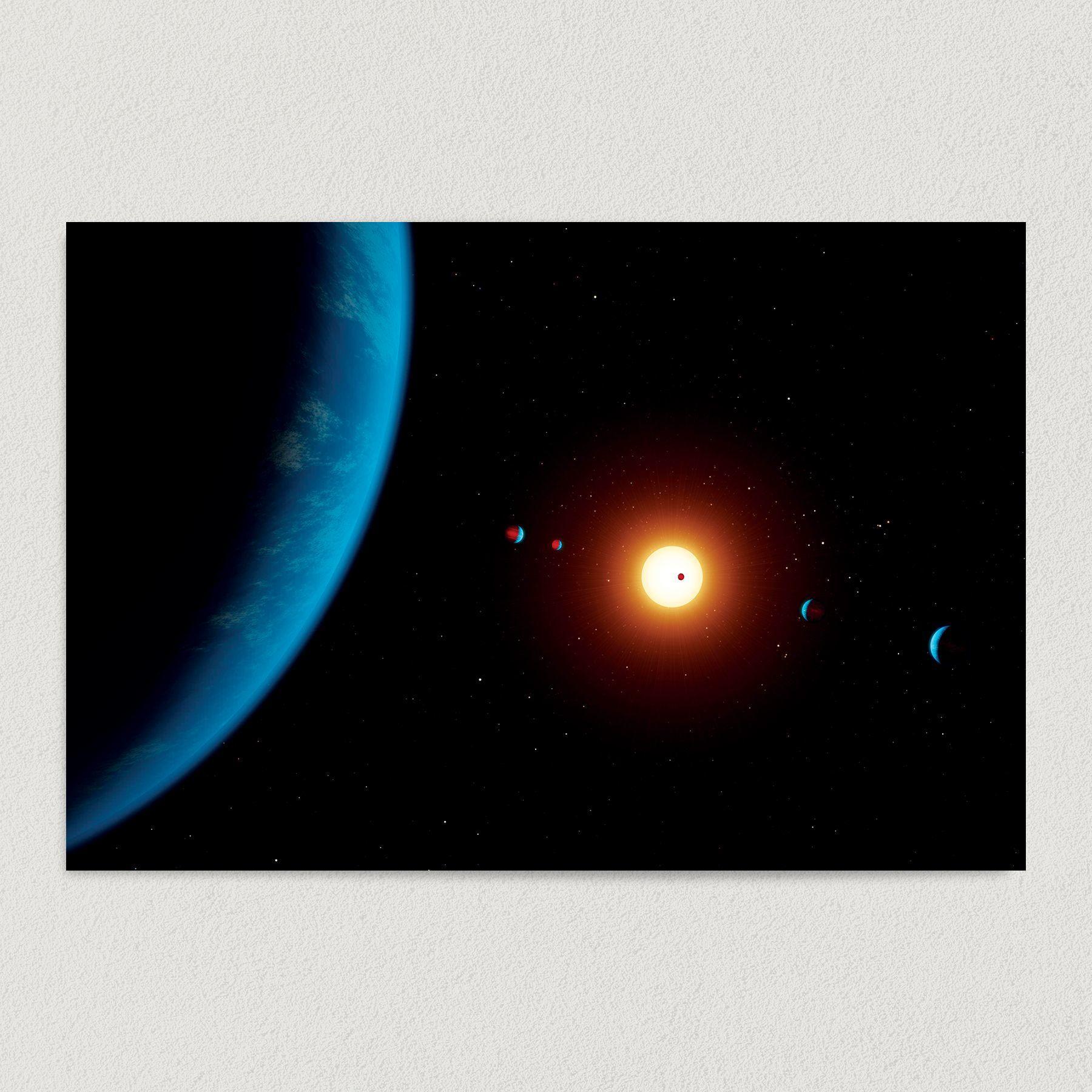 NASA Solar System Illustration Art Print Poster NA1010