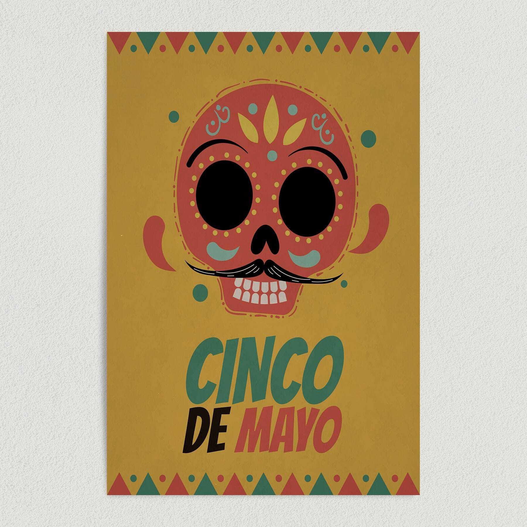 Cinco De Mayo Holiday Art Print Poster 12″ x 18″ Wall Art NH1000