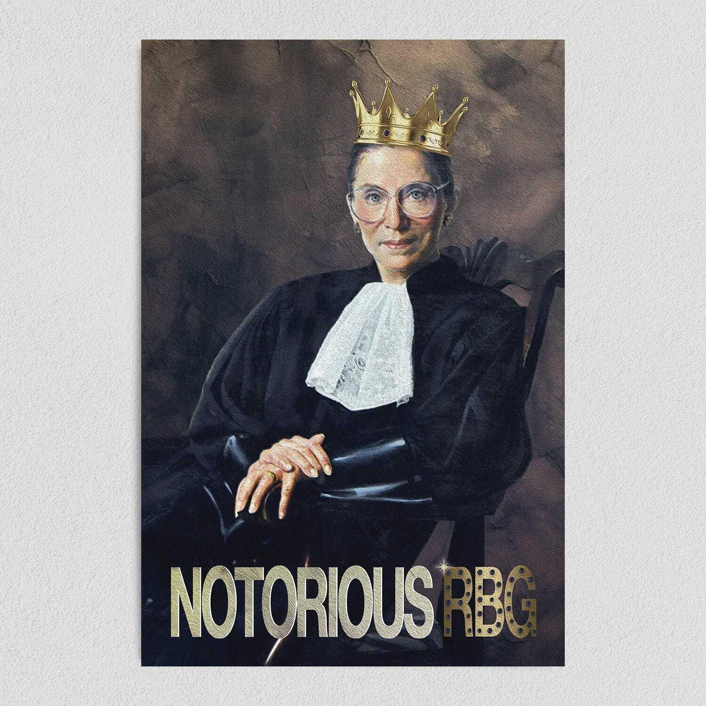 Notorious RBG Art Print Poster 12″ x 18″ Wall Art PR1030