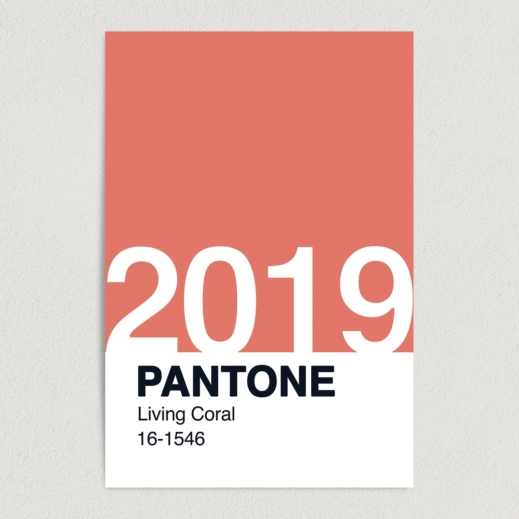 Pantone Color of the Year Living Coral 16-1546 Art Print Poster 12″ x 18″ Wall Art F1000