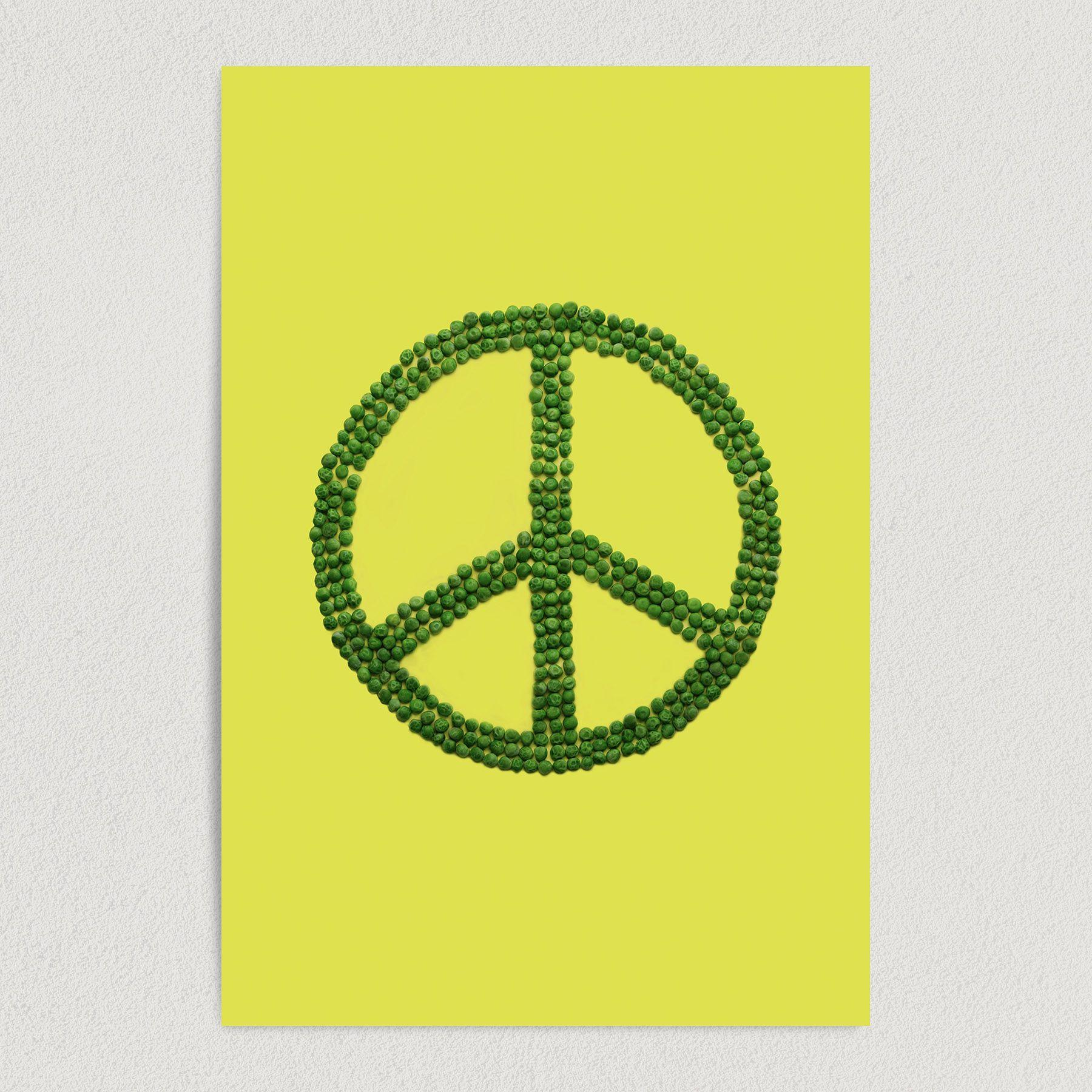 Peas To All Cheerful Peace Art Print Poster 12″ x 18″ Wall Art R1003