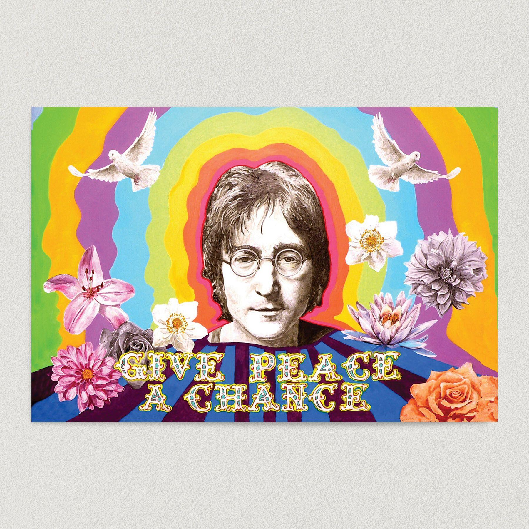 Give Peace A Chance John Lennon Art Print Poster 18″ x 12″ Wall Art PL3186