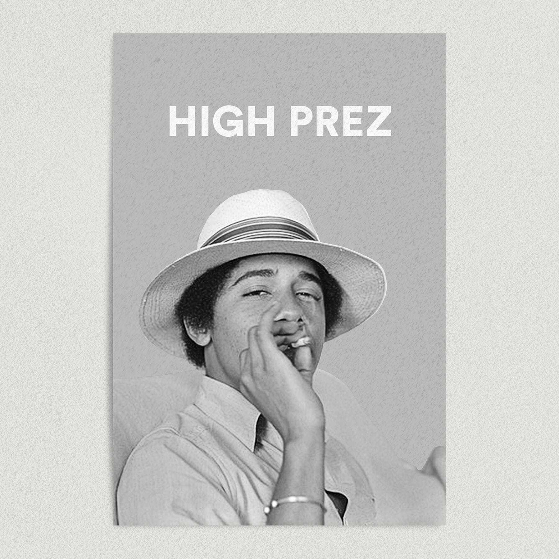 Obama Smokes A Joint Political Cannabis Art Print Poster 12″ x 18″ Wall Art PR1001