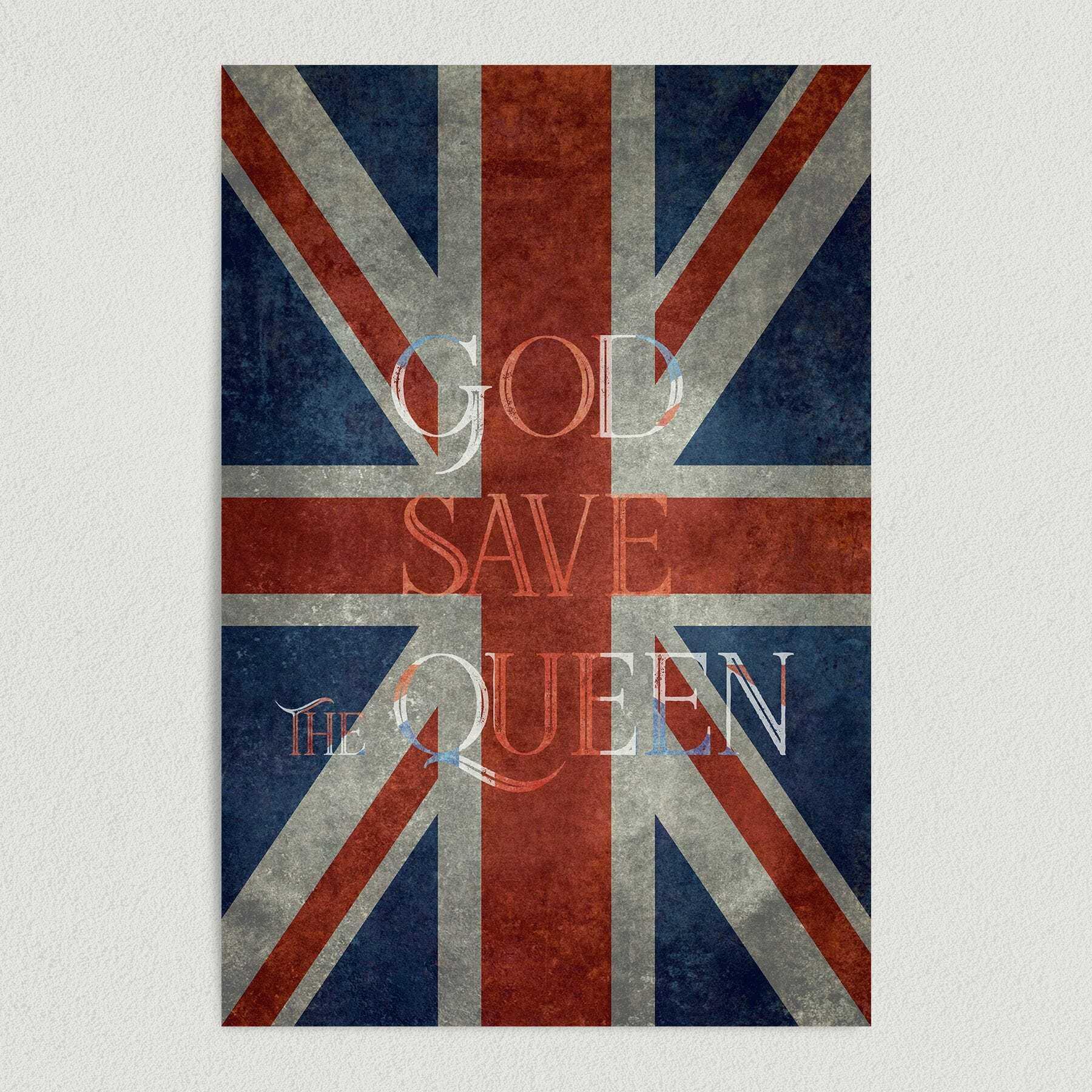 God Save the Queen Art Print Poster 12″ x 18″ Wall Art PR1005