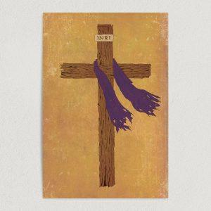 tattered christian cross art print poster 12x18 wall art template