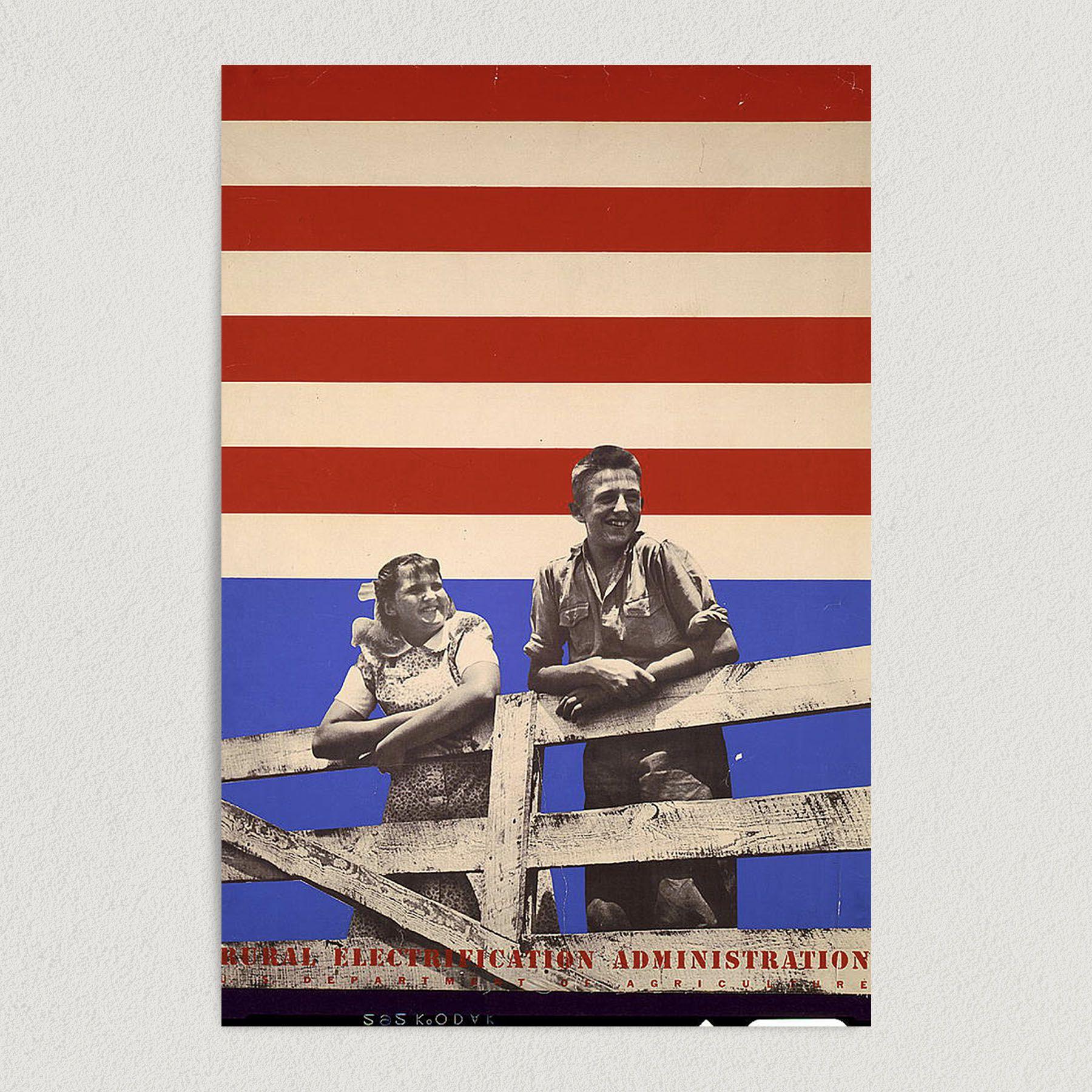 Proud American 1930 Art Print Poster 12″ x 18″ Wall Art G1001