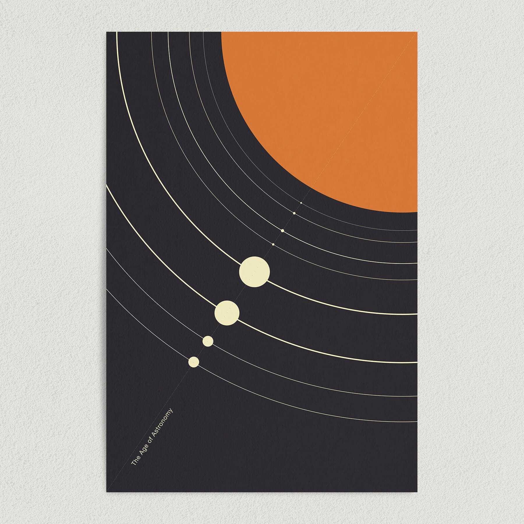 Age of Astronomy Space Orbit Art Print Poster S1100