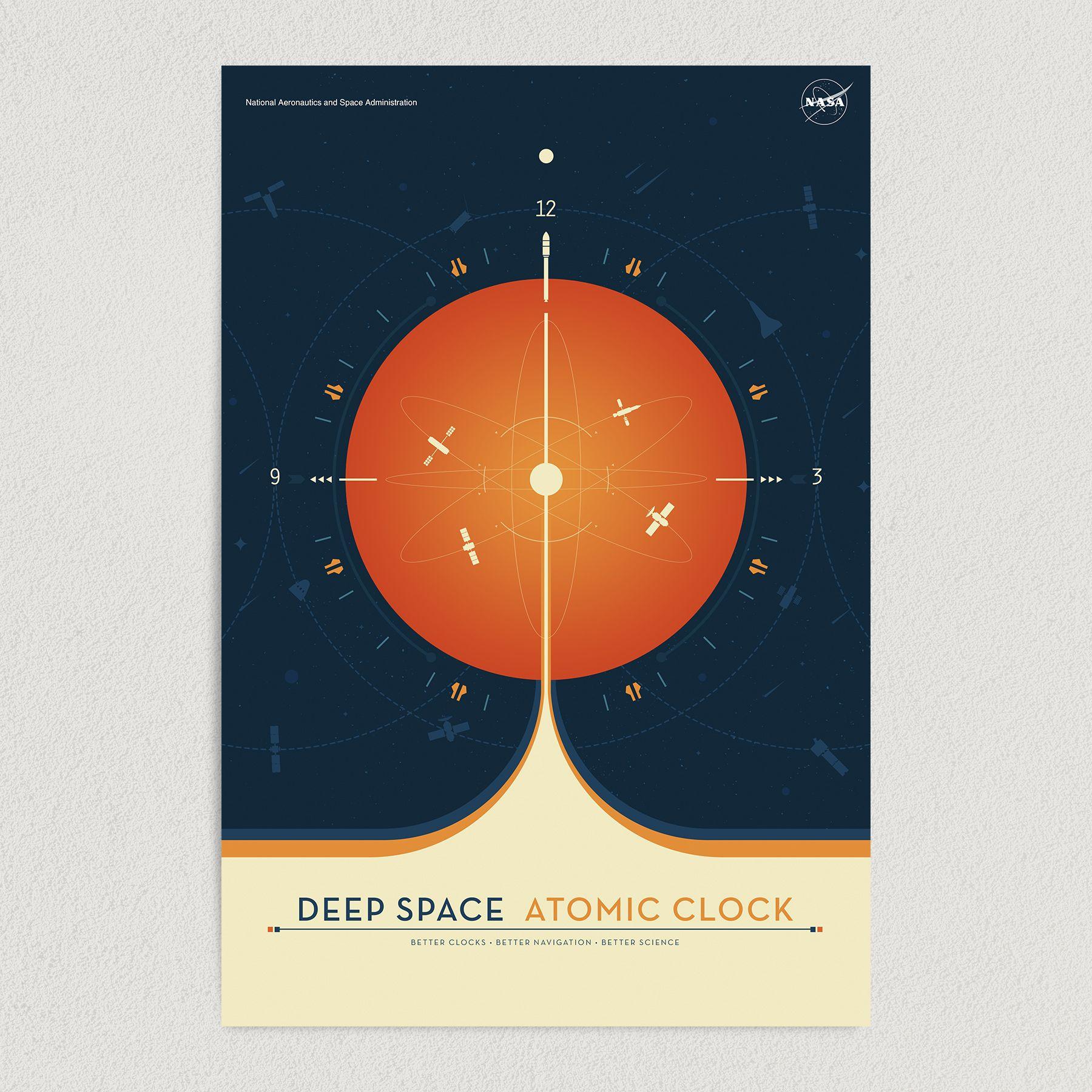 Deep Space Atomic Clock NASA Art Print Poster 12″ x 18″ Wall Art S3327