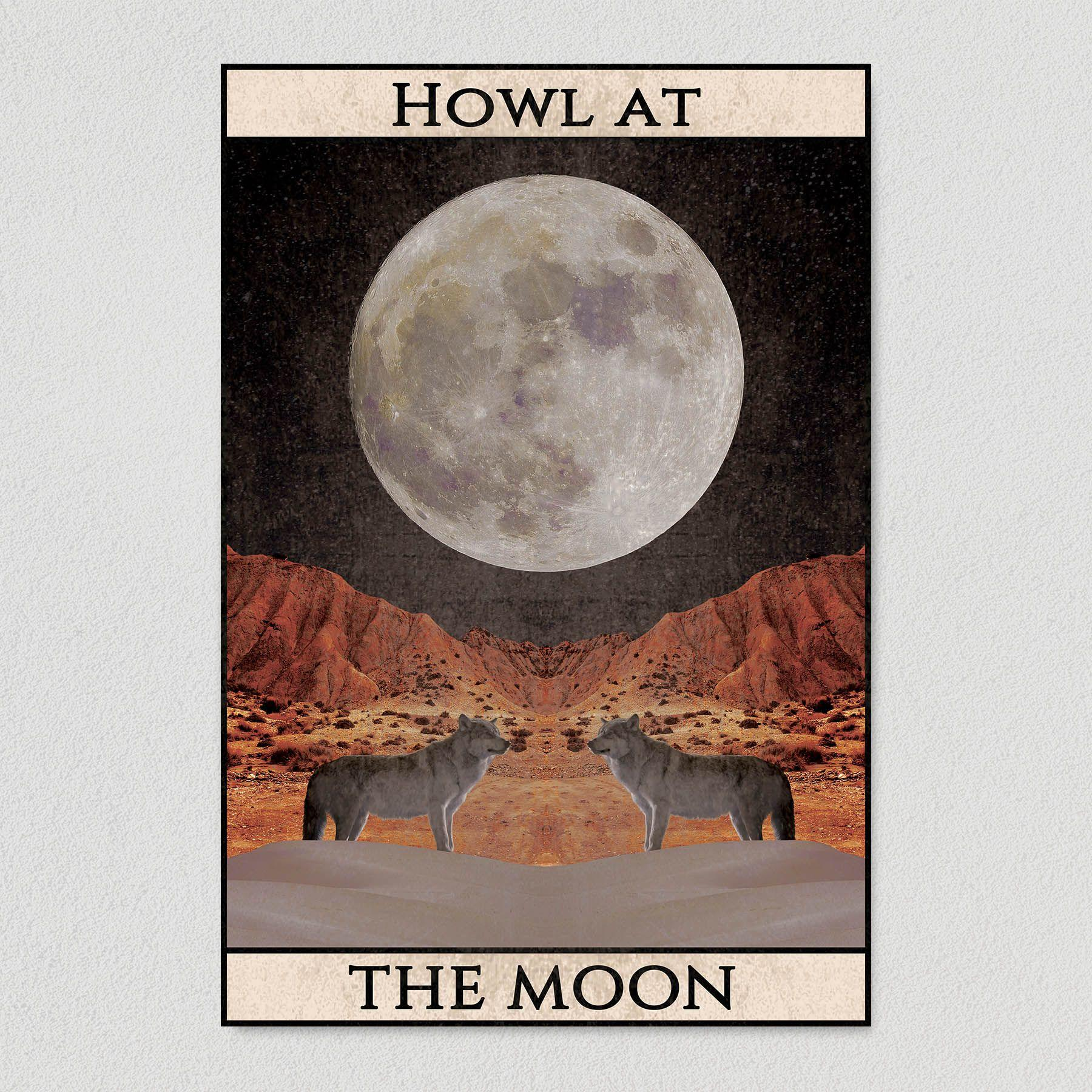 Howl at the Moon Art Print Poster 12″ x 18″ Wall Art SA1301