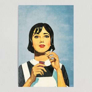 smoking cannabis on the job art print poster C1120 template