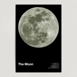 the moon astronomy education art print poster 12x18 wall art template