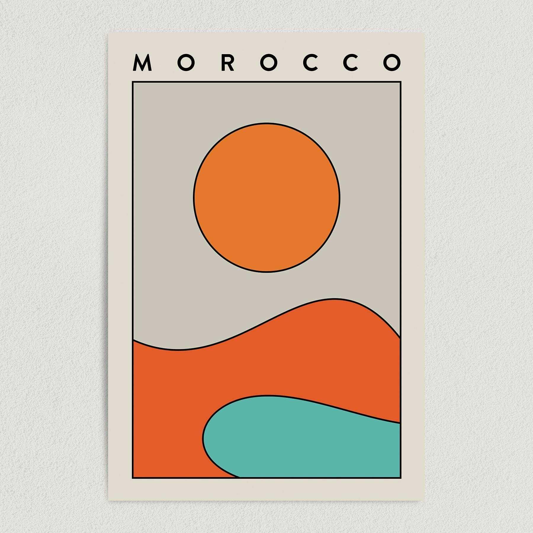 Morocco – Famous Destinations Travel Art Print Poster T1061