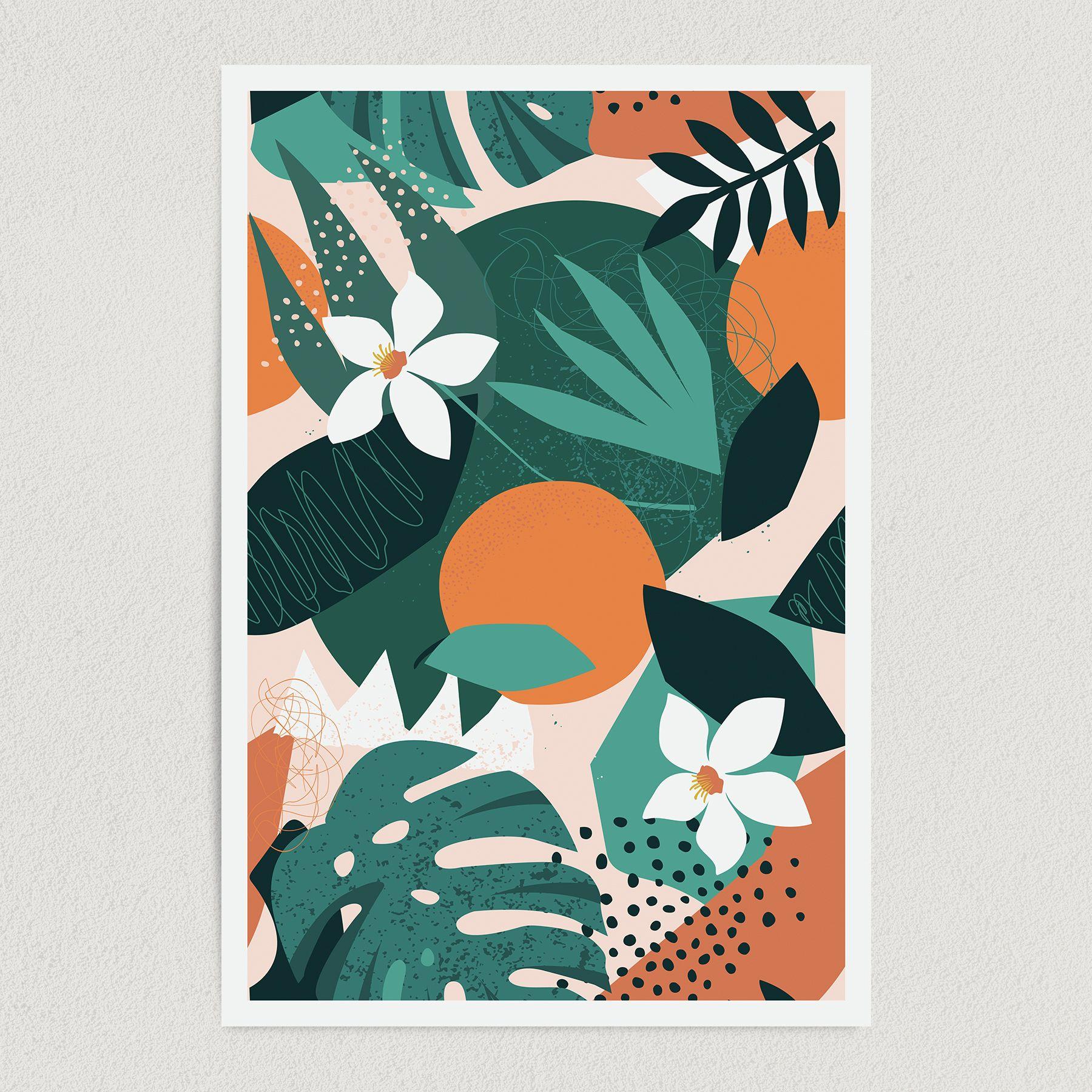 Tropical Jungle Art Print Poster 12″ x 18″ Wall Art T3344