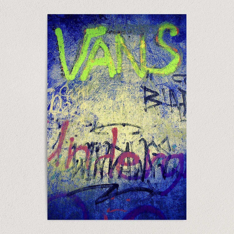 Vans Neon Art Print Poster 12″ x 18″ Wall Art B1001