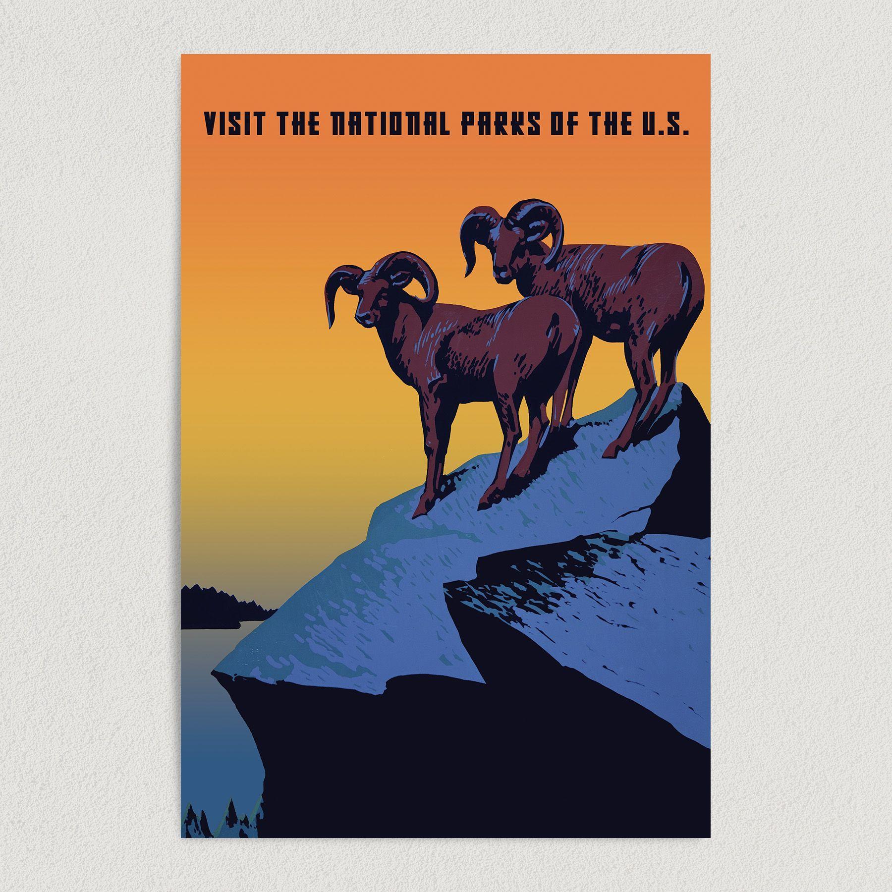 National Parks Vintage Travel Art Print Poster 12″ x 18″ Wall Art V1004